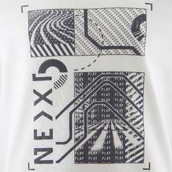 T-Shirt manches longues 100 garçon GYM ENFANT blanc imprimé