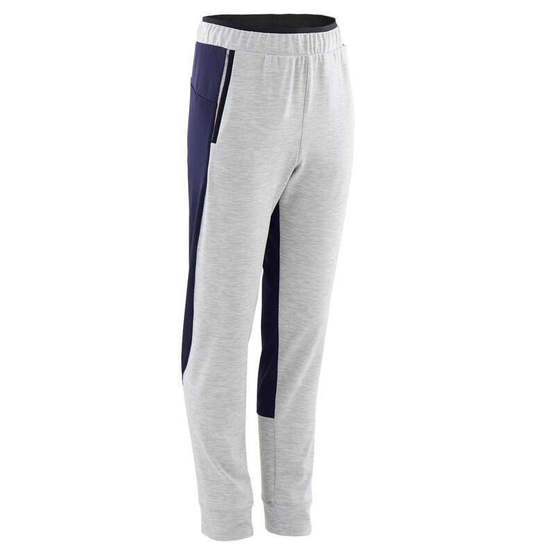 Pantalon de jogging enfant chaud synthétique respirant - S500 gris clair marine