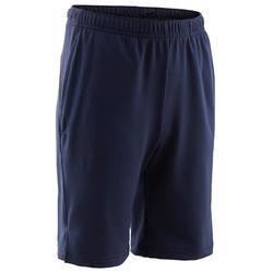 Ademende gymshort jongens S500 synthetisch marineblauw