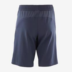 Shorts W500 Gym leicht robust Kinder marineblau
