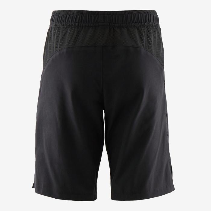 Ademende gymshort voor jongens W500 zwart