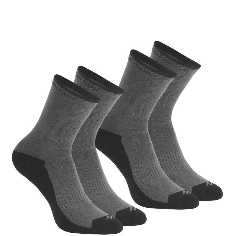 PONOŽKY NA HORSKOU TURISTIKU Turistika - Vysoké ponožky NH 100 2 páry QUECHUA - Turistické doplňky