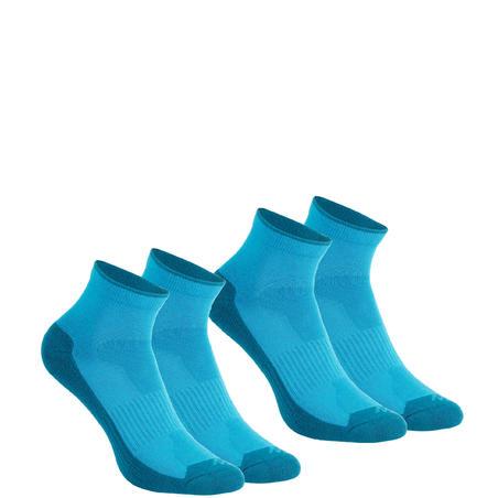 Country walking Mid socks NH 100 X 2 pairs - Blue