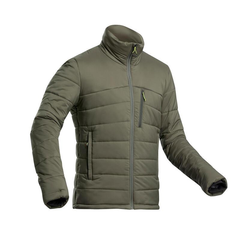 Gewatteerde herenjas voor bergtrekking TREK 500 comforttemperatuur -10 °C kaki