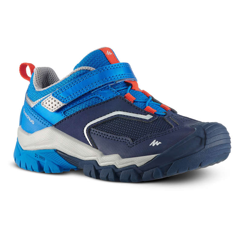 SHOES BOY Hiking - Crossrock Kids Walking Shoes - Blue  QUECHUA - Outdoor Shoes