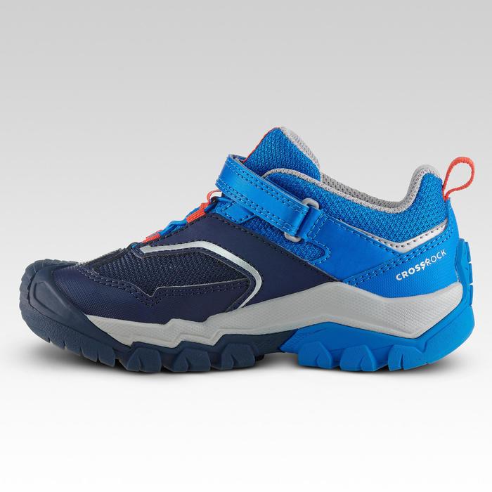 Chaussures basses de randonnée montagne enfant Crossrock Bleues 24-34