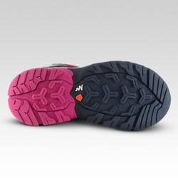 Chaussures de randonnée montagne basses avec scratch fille Crossrock bleues/rose