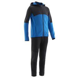 Trainingsanzug S500 Gym warm Synthetik atmungsaktiv Kinder schwarz/blau