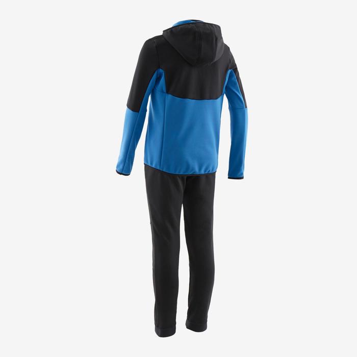 Survêtement chaud, synthétique respirant S500 garçon GYM ENFANT noir/bleu