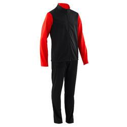 Survêtement GYM'Y chaud, synthétique respirant S500 garçon GYM ENFANT noir/rouge