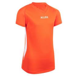 Volleyballtrikot V100 Mädchen orange
