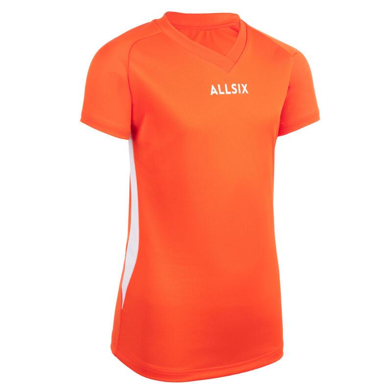 V100 Girls' Volleyball Jersey - Orange