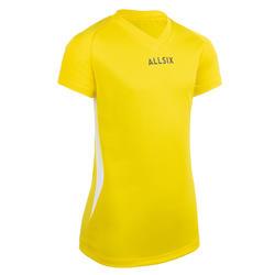 Volleyballtrikot V100 Mädchen gelb
