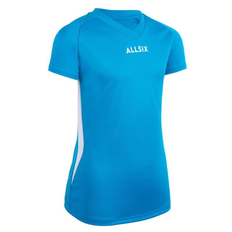 V100 Girls' Volleyball Jersey - Blue