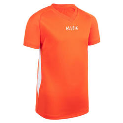 MAILLOT DE VOLLEY-BALL V100 GARÇON ORANGE