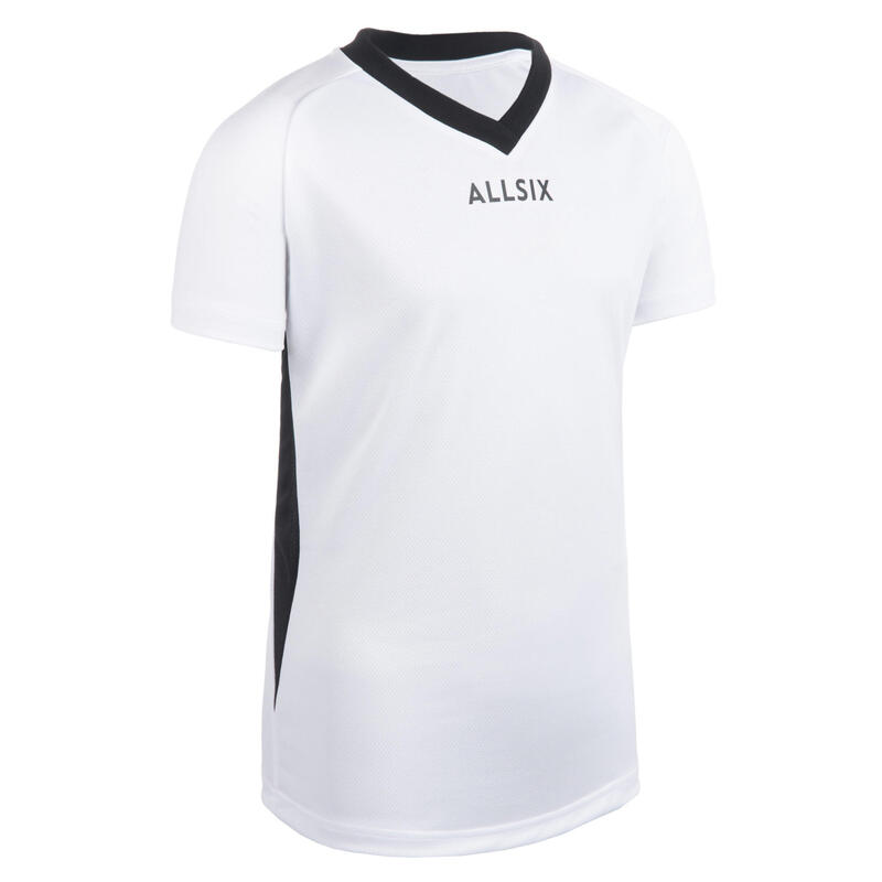 Chlapecký volejbalový dres V100 bílý