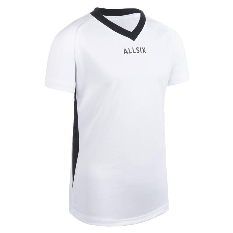 VOLEJBALOVÉ OBLEČENÍ Volejbal - DRES VTS100 BÍLÝ ALLSIX - Oblečení na volejbal