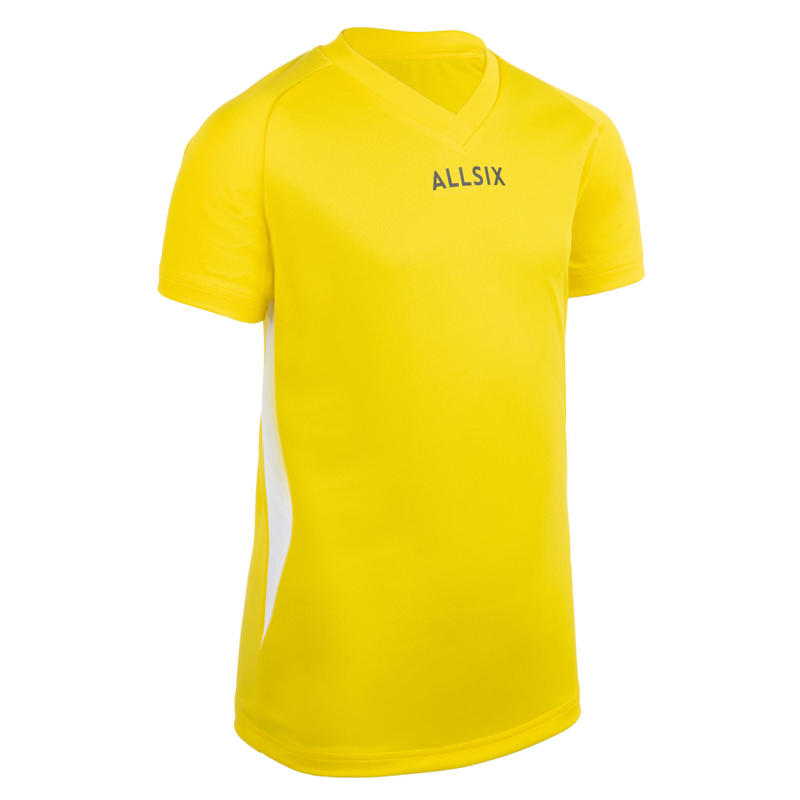 Chlapecký volejbalový dres V100 žlutý