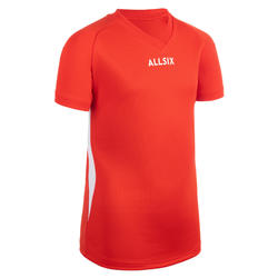 MAILLOT DE VOLLEY-BALL V100 GARÇON ROUGE