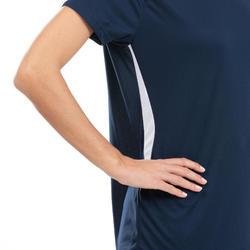 Volleybalshirt V100 voor dames marineblauw