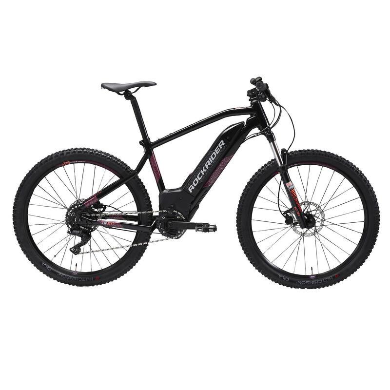 """Women's 27.5"""" Electric Mountain Bike E-ST520 - Black"""