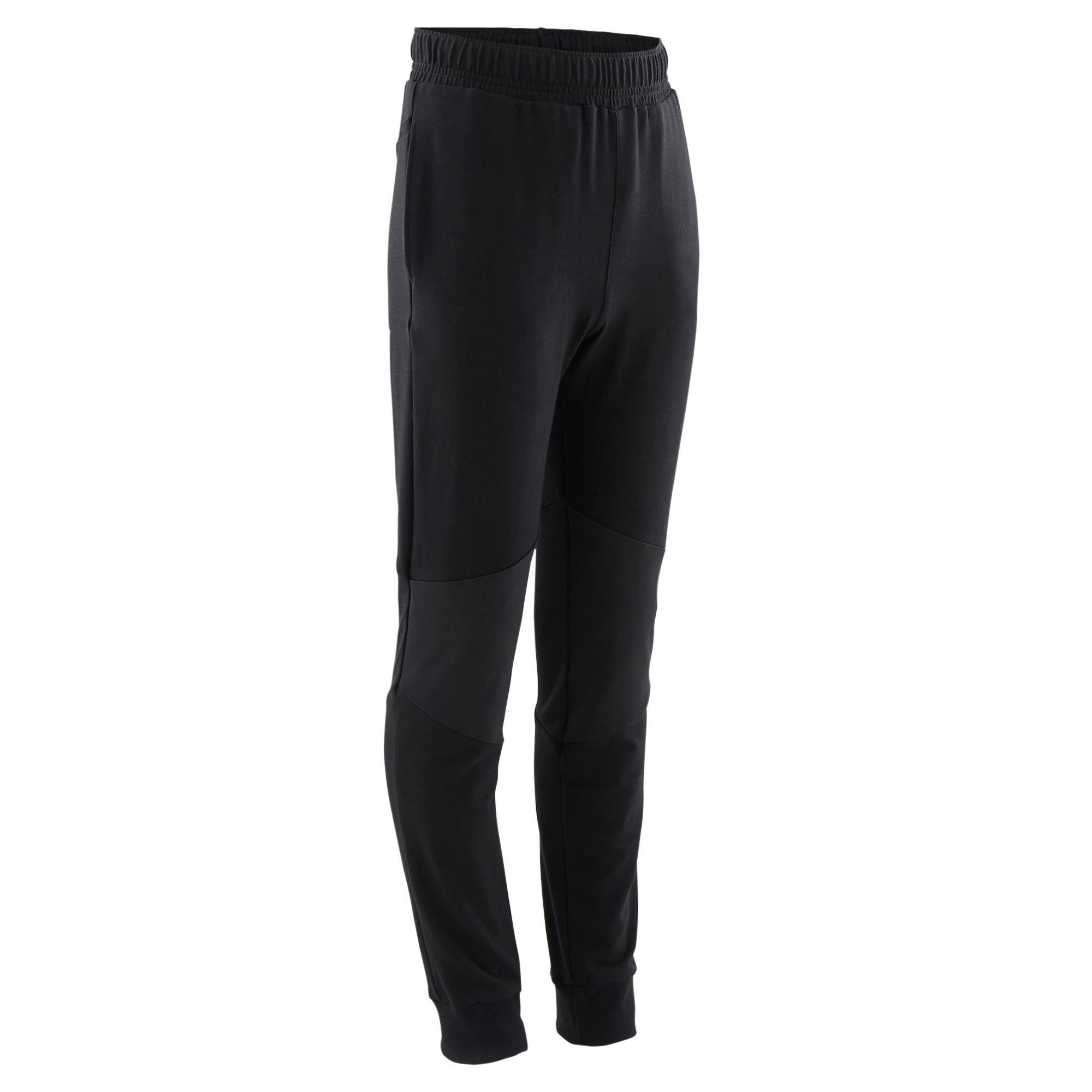Pantalon slim 500 negru băieți la Reducere poza