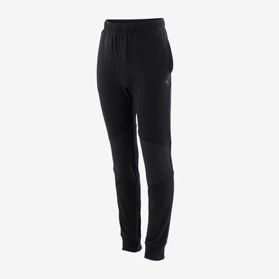 Pantalon léger large, coton respirant, 500 garçon GYM ENFANT noir