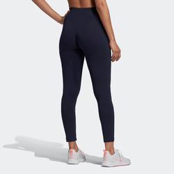 Legging Adidas Femme Bleu Marine avec Logo Rose
