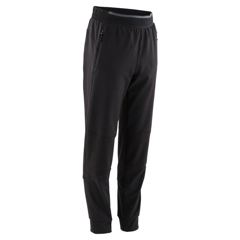 Pantalon trening W900 Educație fizică negru băieți