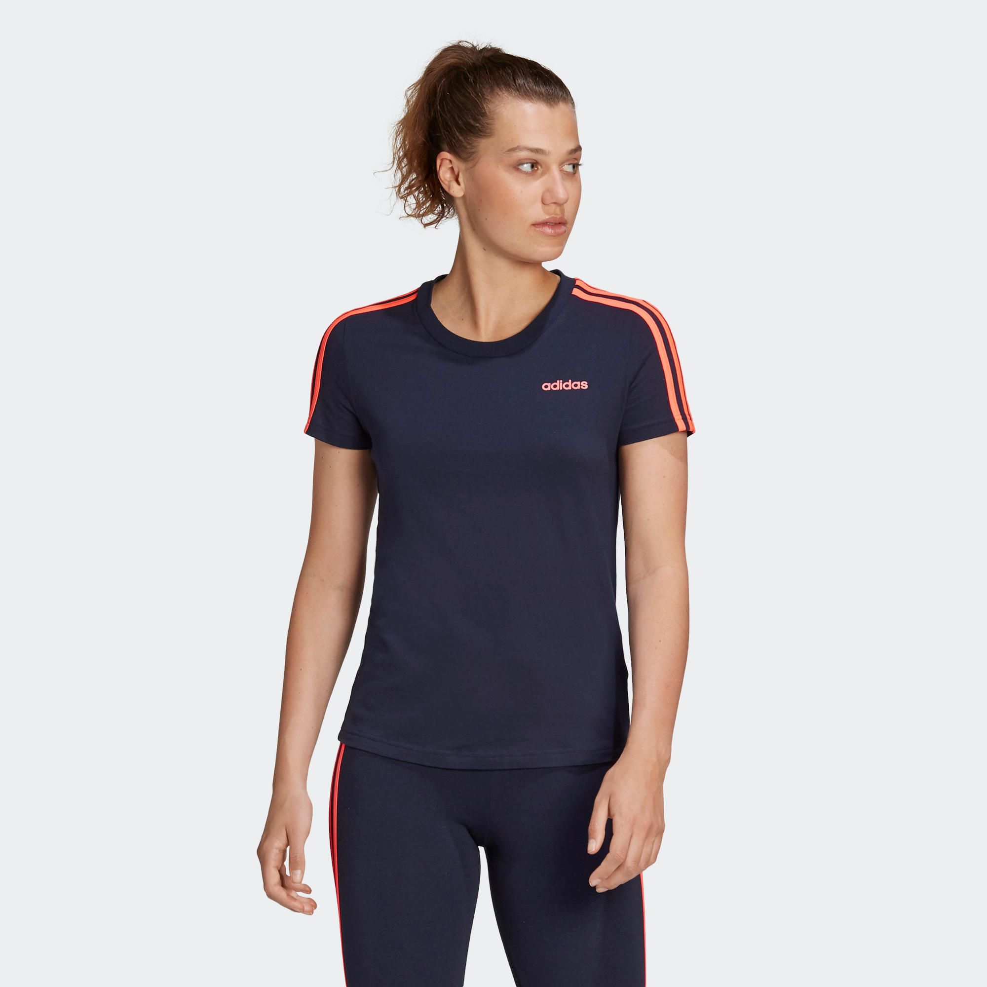Tricou Adidas bleumarin 3S imagine