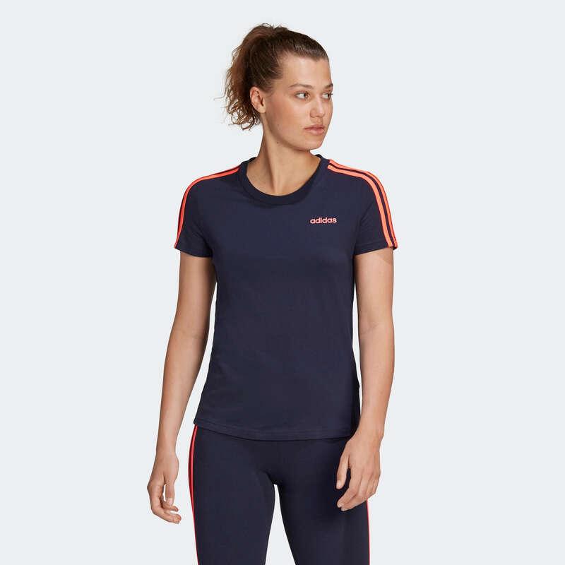 NŐI PÓLÓ, LEGGING, RÖVIDNADRÁG Pilates, torna, trambulin, gyerekjáték - Póló Adidas 3S ADIDAS - Fitness - DOMYOS