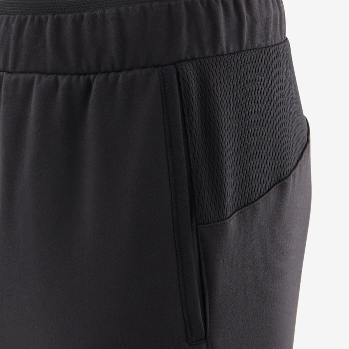 Pantalon chaud, synthétique respirant S500 garçon GYM ENFANT noir uni