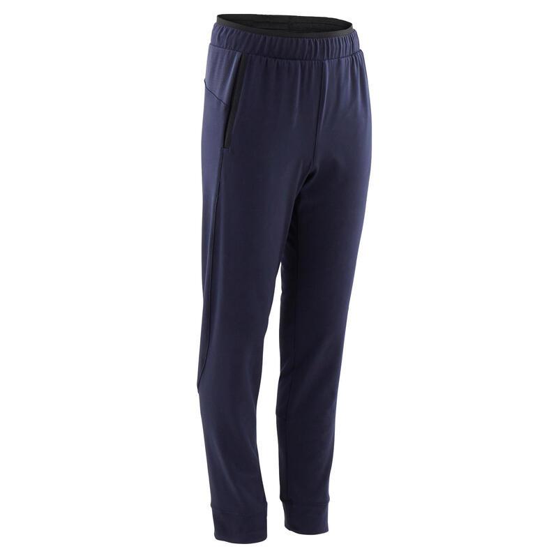 Pantalon de trening Slim 500 educație fizică respirant albastru băieți