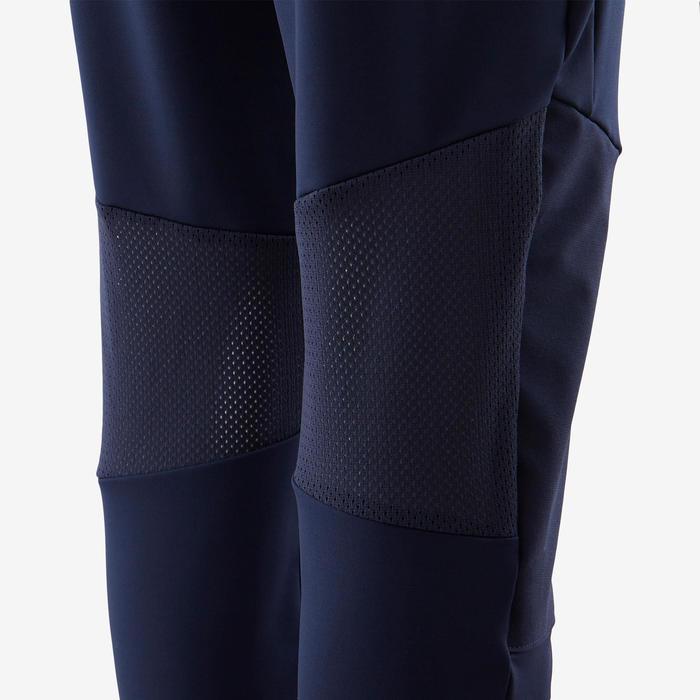 Jogginghose leicht breit atmungsaktiv Kinder marineblau