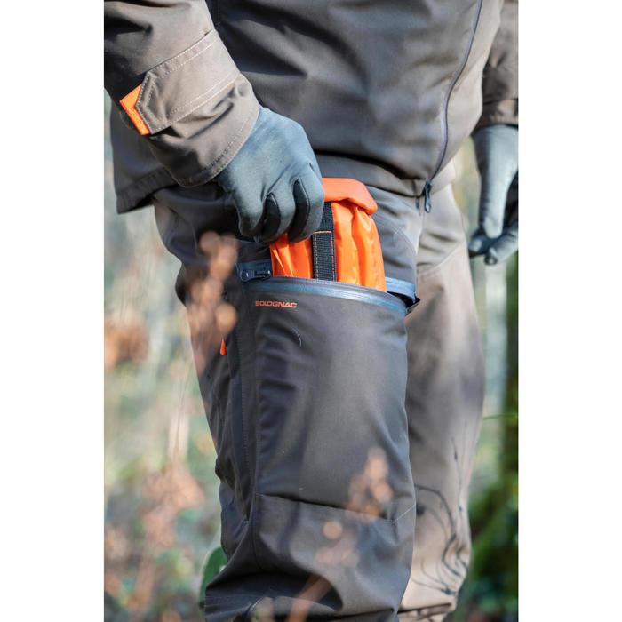 Pantalon chasse imperméable renfort 900 marron