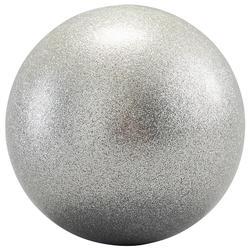 Bal voor ritmische gymnastiek 165 mm zilver met glitters