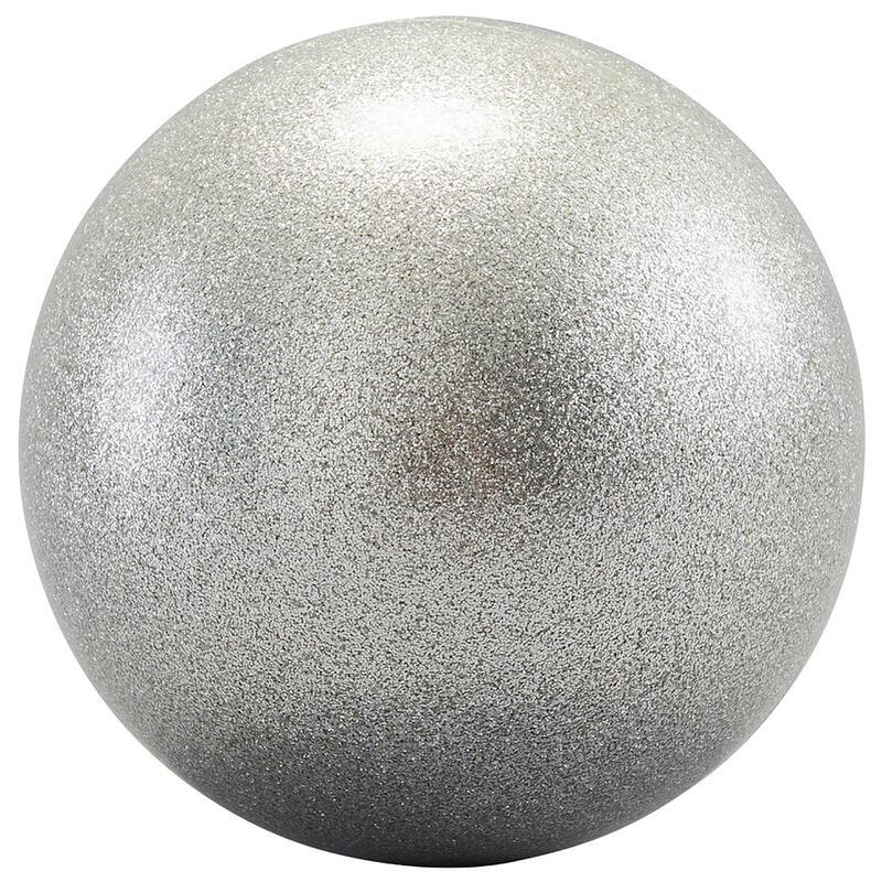 Minge Gimnastică Ritmică 16,5 mm Argintie cu paiete