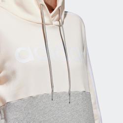 Sweat à Capuche Adidas Femme Rose et Gris