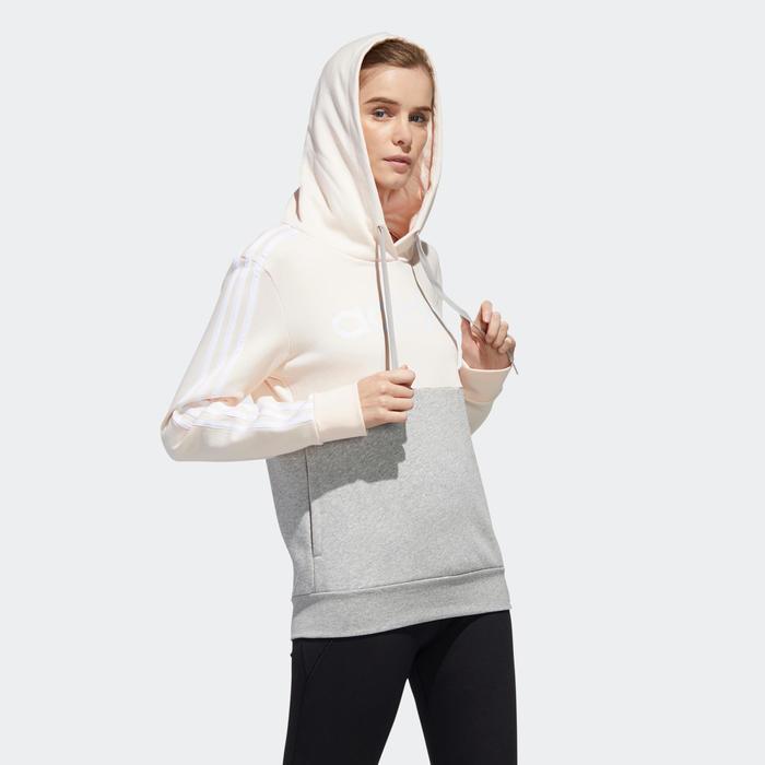 Medición Leyenda pivote  Sudadera deportiva Adidas mujer con capucha rosa gris Adidas | Decathlon