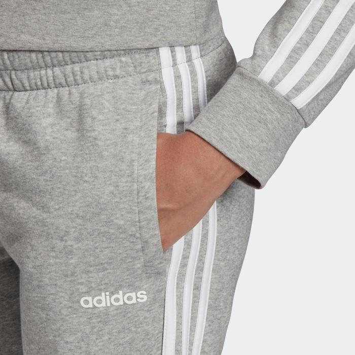 Descenso repentino radioactividad triángulo  Pantalón chándal Adidas mujer slim gris blanco ADIDAS | Decathlon
