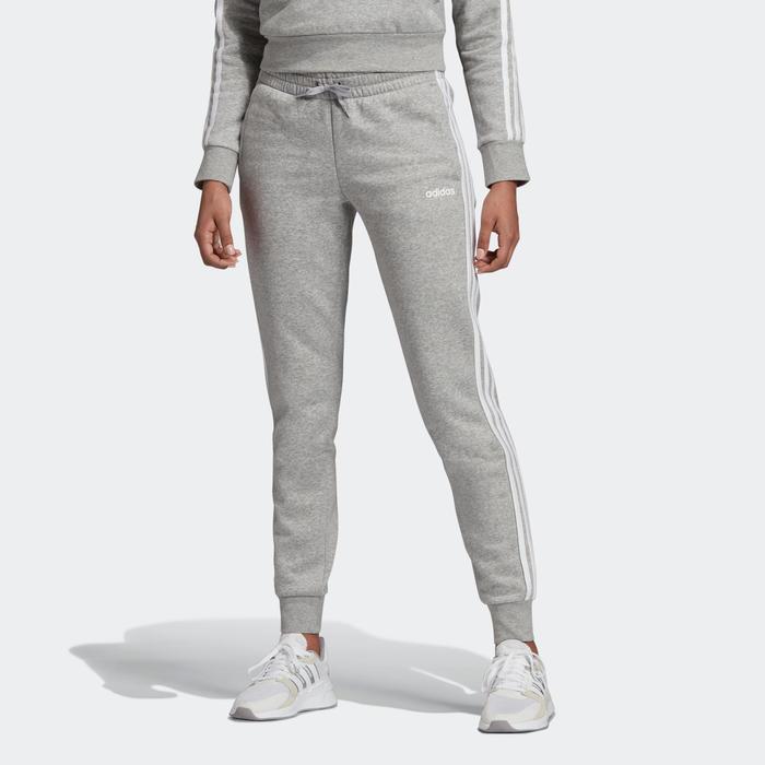 Pantalon Chandal Adidas Mujer Slim Gris Blanco Adidas Decathlon