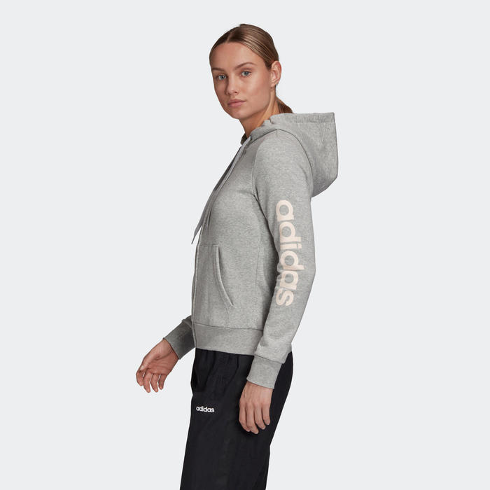 Veste à Capuche Adidas Femme Gris