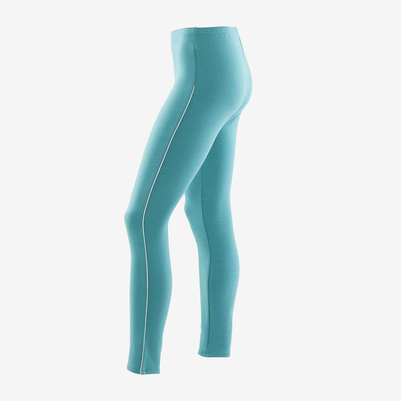 Legging chaud 100 fille GYM ENFANT vert
