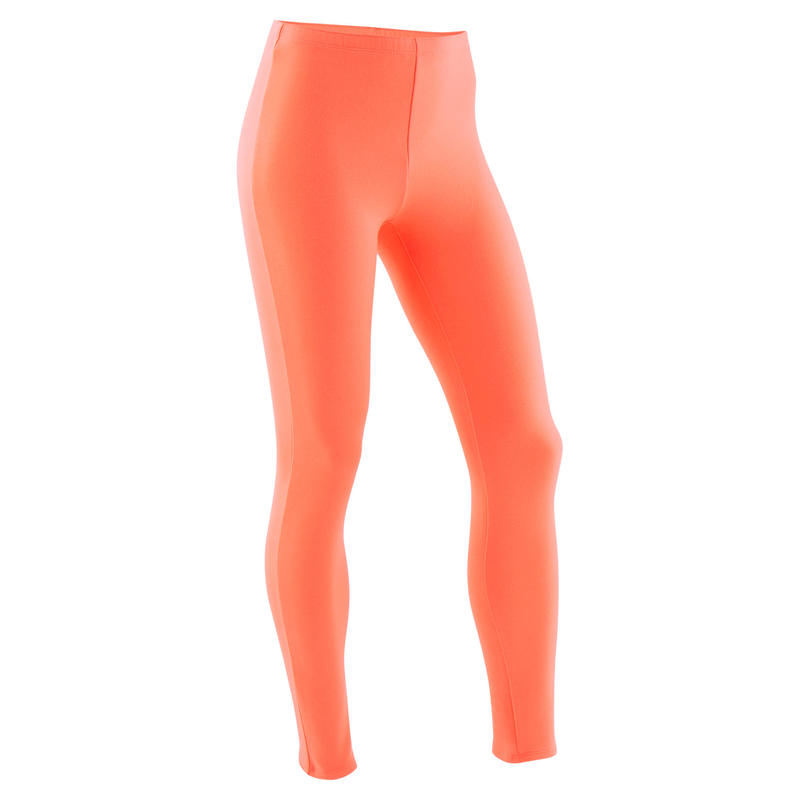 Legging chaud 100 fille GYM ENFANT corail