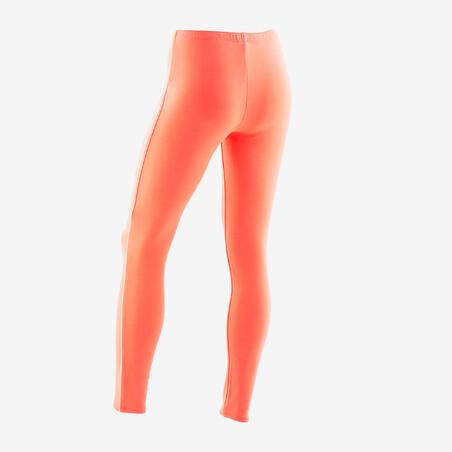 Girls' Warm Gym Leggings 100 - Coral