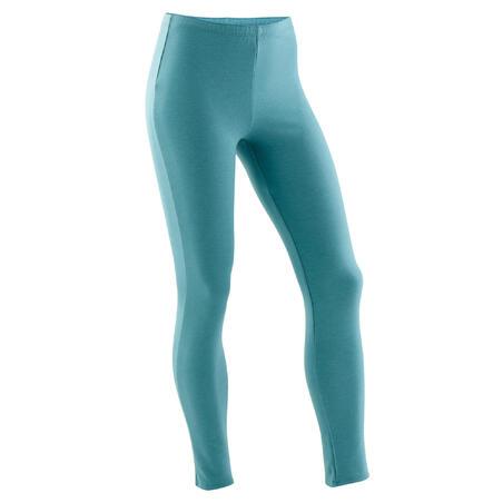 Girls' Gym Warm Leggings 100 - Green