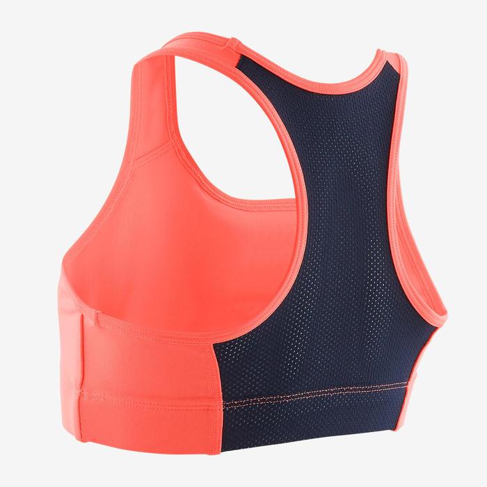 Ademend sporttopje voor gym S500 effen koraal