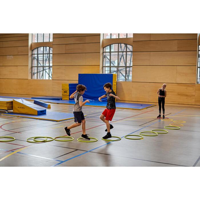 Ademende gymshort voor jongens W500 marineblauw