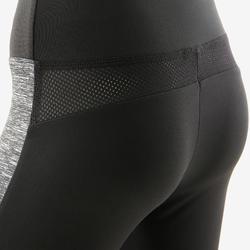 Legging chaud synthétique respirant S500 fille GYM ENFANT noir imprimé devant