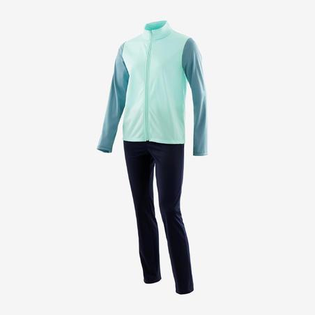 Спортивний костюм Gym'y S500 для дівчат, теплий - Зелений/Темно-синій